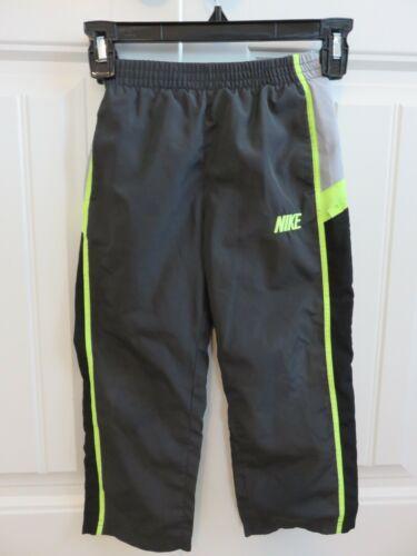 Nike Toddler Boys Grey Black Lime Green Athletic pants Size 4T