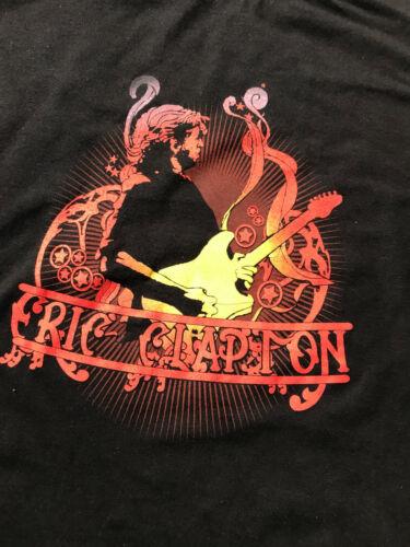 """ERIC CLAPTON 2006/2007 EUROPEAN TOUR LADIES T-SHIRT """"FIRE"""" SIZE LARGE"""