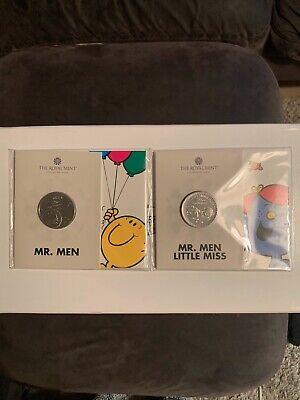 Royal Mint 'Mr Men & Little Miss - Mr Happy & Little Miss Giggles' UK £5 2021