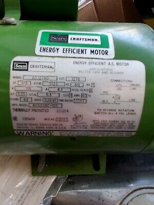 Sears Craftsman 13 Hp Electric Efficient Motor Model 113.12760. Made In U.s.a.