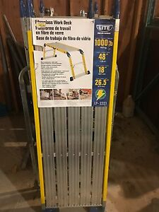 Brand new! Portable Work Deck - 1000lbs capacity 48x18x26.5 -