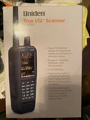 Uniden SDS100 Digital APCO Deluxe Trunking Handheld Scanner With rem-810s Ant.