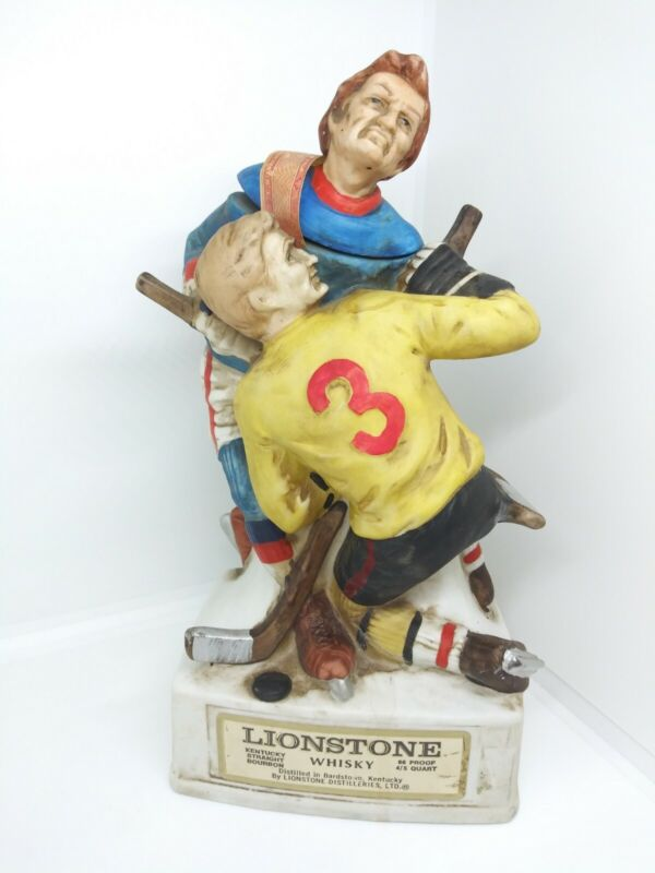 Vintage Lionstone Whiskey Decanter Hockey Limited Edition 1974