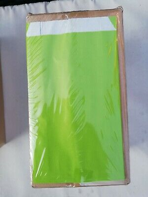 Pack Of 250 Coloured Gift Party Sweet Kraft Paper Bags 12x19cm 60g GREEN SALE!!!