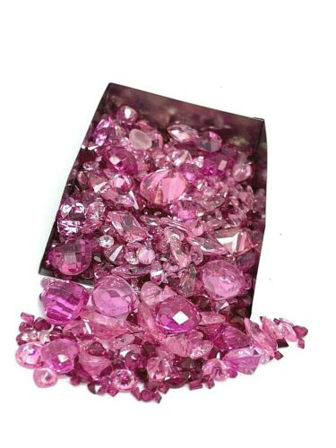 Lot of Pink Gemstone Assorted Loose Gems 500 Carats Scrap Mix Jewelry Making
