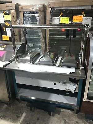Stainless Steel Steam Table 48 3 Pans 1 Burners 20000 Btu W Sneeze Guard Nsf