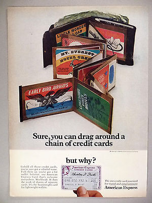 American Express Credit Card Print Ad   1968    Charge Card
