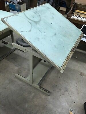 Smith Systems Drafting Art Studio Table Desk Vintage Heavy Duty Made In Usa
