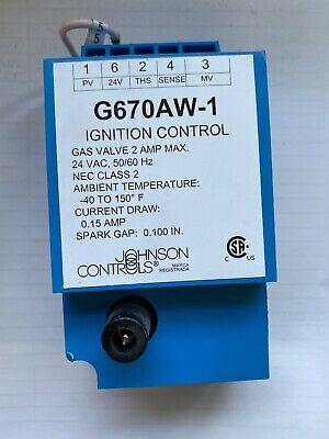 Pilot Ignition Control Johnson Controls G670aw1