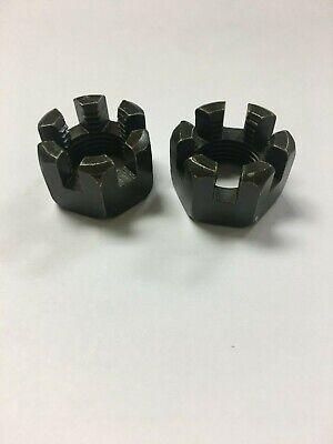 Two Castle Nuts M10 M12 1.25 M14 M16 1.50 Utv Atv 125150cc Axle Hex Fastener