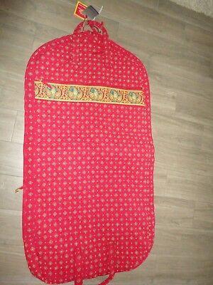 SAMSONITE COUNTRY PROVENCAL RED YELLOW FOULARD GARMENT COVER BAG