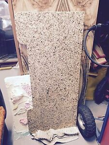 Granite piece caramel speckled 93cm x 36/41 x18mm thick Adamstown Newcastle Area Preview