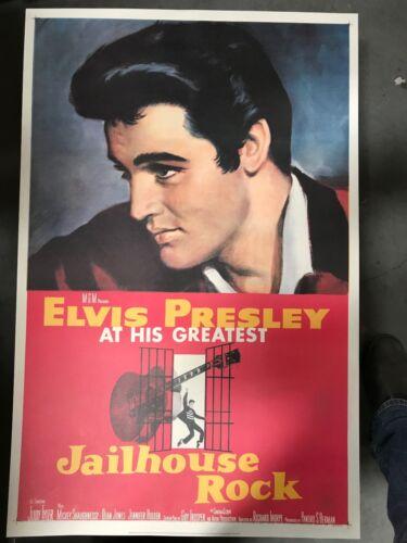 Elvis Presley In Jailhouse Rock - Vintage Movie Poster - Large