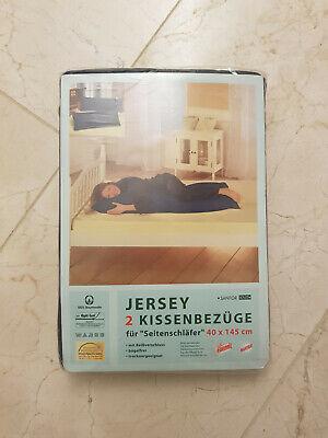 """JERSEY 2 KISSEBEZÜGE für """" Seitenschläfer """" 40 x 145 cm"""
