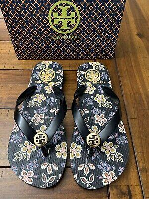 Tory Burch Flip Flops Shoes Sandals Flat Rubber Size 6