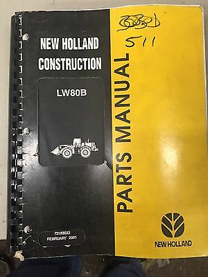 2001 New Holland Lw80b Wheel Loader Parts Manual