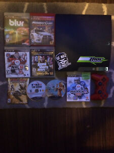 PS3, 8 games and controller