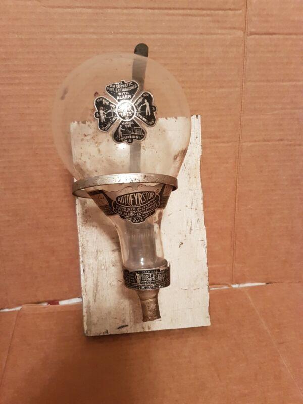 Vintage Auto FYR Stop Glass Fire Alarm Extinguisher Model C-37 Unit! Very Rare!