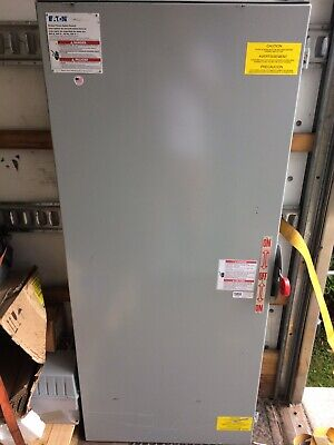 Eaton 800 Amp 600 Volt Double Throw Safety Switch 4 Pole Cat Dt467ugk - Used