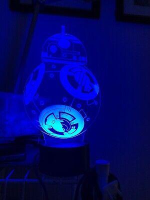 3D Lamp Star War Fuwa Force Awaken Bb-8 Night 7 Color Change Best Child Gift