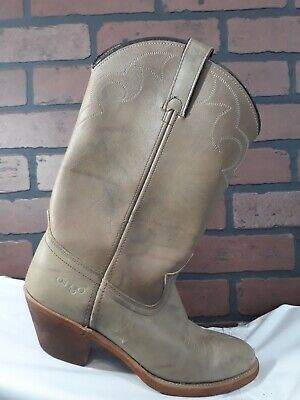 Men's Vintage Acme Dingo Leather Western Cowboy Boots Size 8.5 D Style 5904