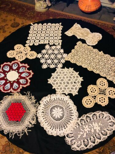 antique doily Lot 1920's lace/wedding hand made
