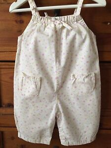 mothercare Infant Girl's Dungarees Size 3-6 mths