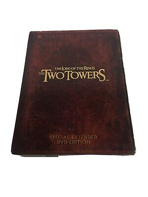 The Lord of the Rings: The Two Towers (DVD, 2003, 4-Disc Set, Platinum Series...
