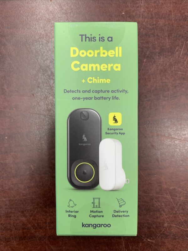 Kangaroo Doorbell Camera + Chime NEW (FACTORY SEALED!)