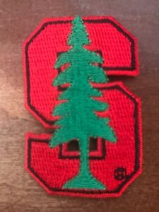 """Stanford Cardinal Indians Vintage Embroidered Iron On Patch 2.5"""" X 1.5"""" Apx"""