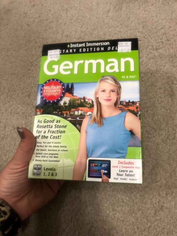 NEW••• Instant Immersion German Levels 1, 2 & 3 PC/Mac CD-ROM