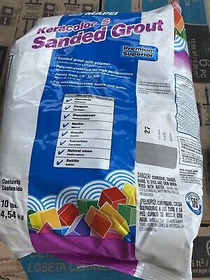 Mapei Keracolor S 10lb Bag Sanded Grout - Silver # 27 -