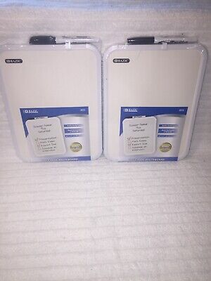 Two Bazic 8.5 X 11 Small Dry Erase White Board With Marker Note Class Student