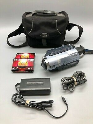 Sony Handycam DCR-TRV140 Digital 8 Camcorder Bundle - Carrying Case - Power