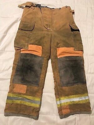 Lion Body Guard Firefighter Turnout Pants Bunker Gear W Liner 36 X 30