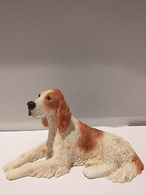 Irish Red White  Setter figure Castagna made in Italy with certificate new box