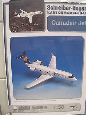 Canadair Jet Flugzeug Schreiber-Bogen Kartonbausatz *NEU* Bastelbogen