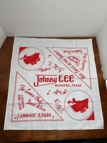 Vintage Johnny Lee  Concert Tour Scarf Bandana souvenir memorabilia