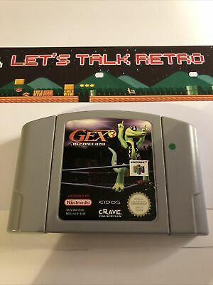 Gex 3 Deep Cover Gecko Nintendo N64 PAL Cart Only Genuine