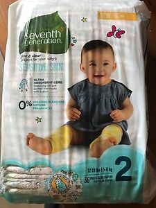 Seventh Generation Diapers size 2