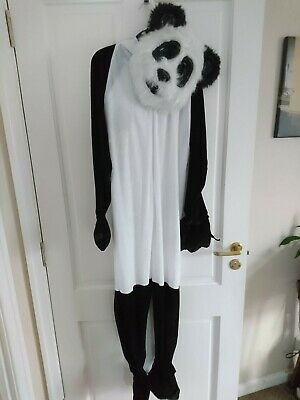 Kids panda outfit -  panda all-in-one & mask - 10-12 yrs - Free panda gift!