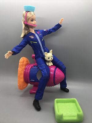 Barbie Doll Dog Doghouse Rocket Space Discovery Space Station Astronaut Lot NEW