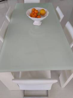 Glass and Chrome 8 seater quality table