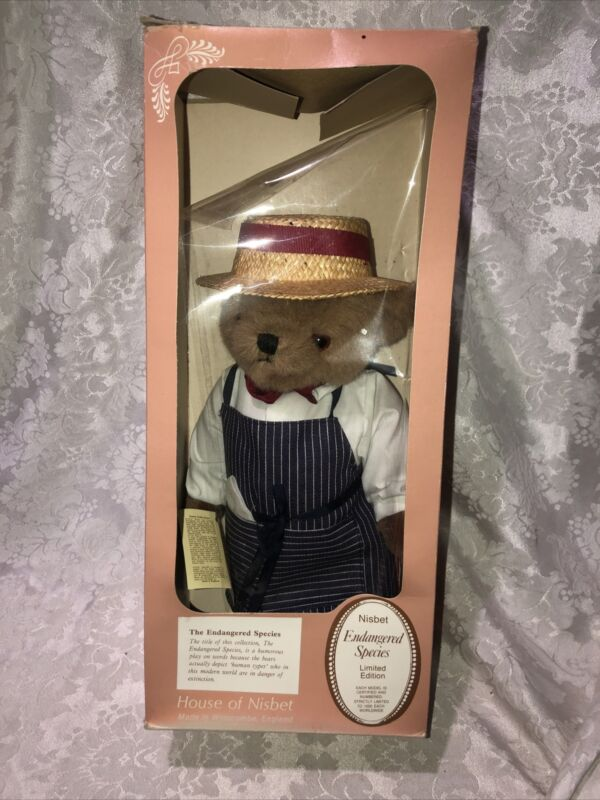 House of Nisbet Endangered Species General Store Bear #179 England Numbered