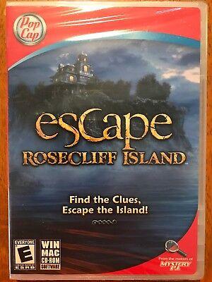 PopCap Escape Rosecliff Island  Find the Clues Escape the Islang! PC/MAC NEW