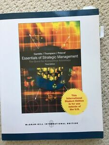 Essentials of strategic management 3rd edition