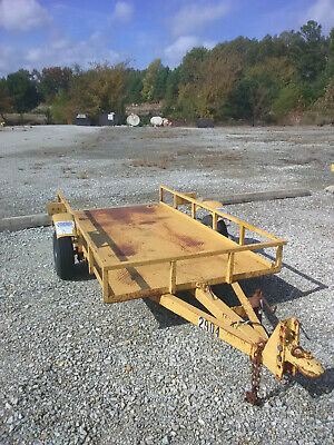 4-wheeler Utility Trailer 4 X 8 Tilting Steel Bed