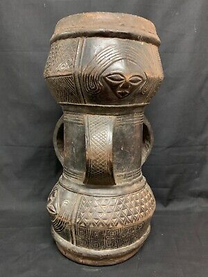 AFRICAN ART KUBA DRUM, used for sale  Shipping to Nigeria