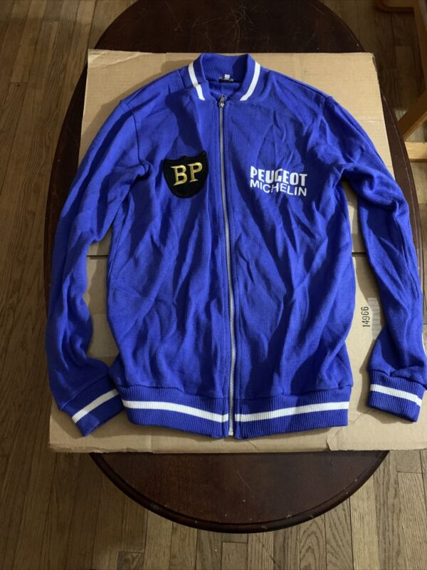PEUGEOT BP vintage wool LS jersey, new, worn briefly, M, Ships In Dad From US