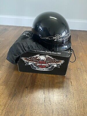 Harley Davidson Half Helmet - Medium Black With Original Box And Bag